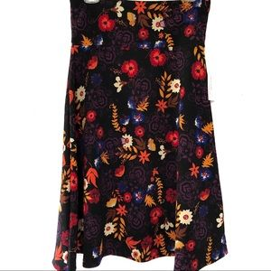 Lularoe   azure floral printed skater skirt (NWT)